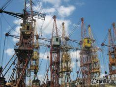 Cranes. building cranes