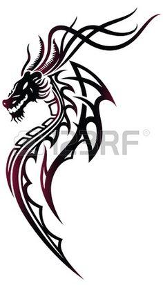 Dragon Tribal Tatouage 14 meilleures images du tableau tattoo dragon tribal | tribal