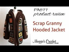 PA877 Scrap Granny Hooded Jacket - Hood Attachment Tutorial - YouTube