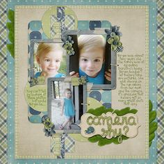 Scrapbook layout ► Great page. Good choice of colours.