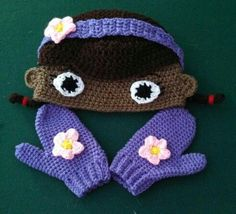 Crochet Doc McStuffins | New hat I have designed Doc McStuffins. https://m.facebook.com ...