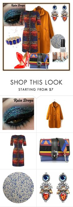 """""""Let the Paint Chips Fall Where They May"""" by klm62 ❤ liked on Polyvore featuring Tahari by Arthur S. Levine, Paula Cademartori, Christian Louboutin, Tisch New York and OPI"""