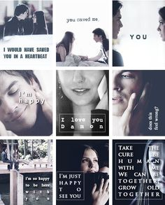 Damon & Elena vampire diaries