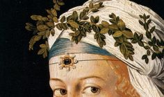 Flore - Portait d'une courtisane, 1520, by Bartolomeo Veneto (Italian, active 1502 - 1546).