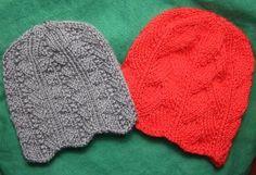 Ripple Edged Hats free pattern on All Free Knitting