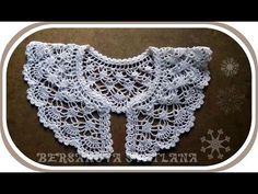 ▶ Ажурный воротничок крючком. Вариант 3.Crochet collar - YouTube
