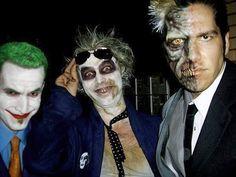 2008. Villain party at Savini High. My Beetlejuice makeup on Ryan Pintar Ryan Pintar's Two-Face makeup on me and Jarrod James's Joker makeup on himself.  #makeup #makeupartist #makeupfx #spfx #fxmakeup #twoface #beetlejuice #joker #art #artist #dc #warnerbrothers #villains #faceoff #instashare #itsshowtime