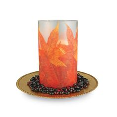 Leaf Harvest Votive. This gorgeous leaf votive will a be wonderful addition to any room. Casting a cozy glow that conjures up images of the perfect fall day, it will be a welcome accent in your home.