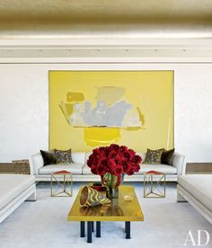 Live on the sunny side with these stunning rooms accented with bright pops of yellow