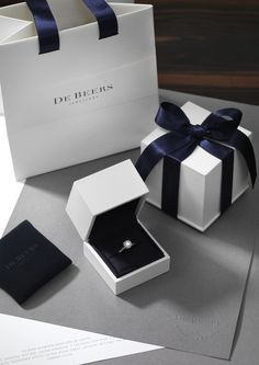 Forget the blue Tiffany box, I'd die over this white & blue Debeers box any…