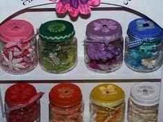 meu cantinho: Dicas de reciclagem e organização: potinhos de papinha infantil