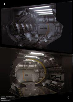 Atey Ghailan Concept Art Interior Mining Colony Hallways - Imgur