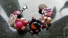Bracelet, repurposed earrings
