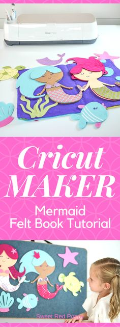 Sewing Tips For Beginners Cricut Maker Mermaid Under the Sea Felt Quiet Book with HTV Iron-On - Quiet Book Tutorial, Felt Tutorial, Leftover Fabric, Love Sewing, Learn Sewing, Basic Sewing, Sewing Projects For Beginners, Simple Projects, Couture