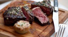 Grilled prime US striploin steak on the board, pepper mignonette cafe gray steak sauce #HongKong