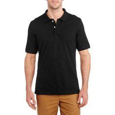 Faded Glory Big Men's Short Sleeve Polo, Size: 5XL, Black