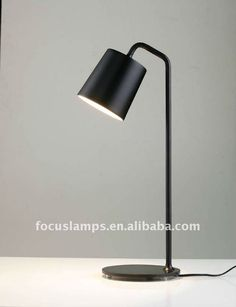 Modern Metal Table LampWhite,black or yellow painted steelEnergy-saving and reading desk lamp