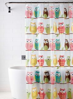 Cute owl shower curtain! I'll have many eyes watching me shower! Lol. :p