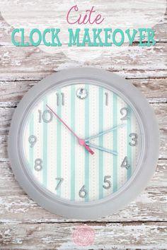 Cute Clock Makeover #DIY #homedecor