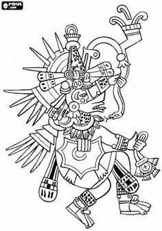 Aztec Gods & Goddesses Coloring pages