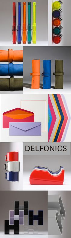 A pop of color on your desk is sure to inspire / Delfonics Office Supplies
