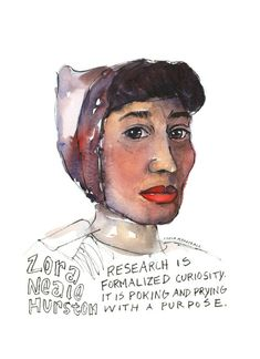 Portfolio — Artist Lydia Makepeace Zora Neale Hurston Quotes, Watercolor Kit, Audre Lorde, Postcard Printing, Harlem Renaissance, African American Art, Ink Illustrations, Female Portrait, Quote Prints