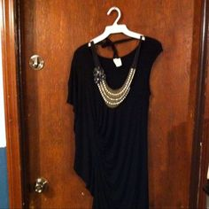 """Ella Moss """"Grecian"""" little black dress, small Ella moss brand from Anthro. This black dress is not only cute but very comfortable. Size small but stretchy so I think it could fit a medium as well. Worn twice to weddings last year. Necklace shown is also listed :) last photo is just to show a similar style that's current and it's selling price (mines a steal!) Anthropologie Dresses One Shoulder"""