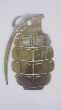 CNC Plasma Grenade Sign by ClemCustomCreations on Etsy