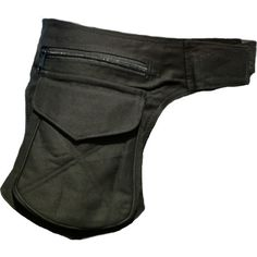Black Waist Bag Pocket Belt by PixiePixie on Etsy, £12.99