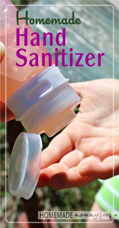 Homemade Hand Sanitizer   www.homemademommy.net #essentialoils #diybeauty