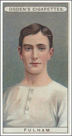 Cigarette card in the - Fulham. Football Cards, Football Players, Fulham Fc, Bristol Rovers, Laws Of The Game, Association Football, Most Popular Sports, Everton Fc, Athlete