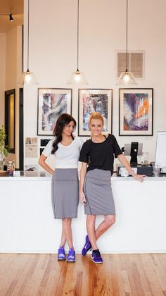 Love seeing KrissyCoco and SaraJane in our Georgie Uptown Skirts!