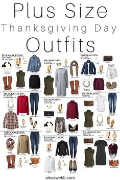 Plus Size Thanksgiving Outfits - Part 1 - Alexa Webb - Plus Size Thanksgiving Day Outfit Ideas – Plus Size Casual Fall Outfits – Plus Size Fashion for - Plus Size Casual, Plus Size Outfits, Plus Size Winter Outfits, Plus Size Fashion For Women, Plus Size Women, Thanksgiving Outfit Women, Plus Zise, Winter Mode, Curvy Girl Fashion
