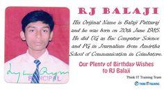 Birthday Wishes to RJ Balaji.. Thanks for Saving our Chennai Peoples from Flood.  @RJ Balaji #RJBalaji #Birthday #Chennai