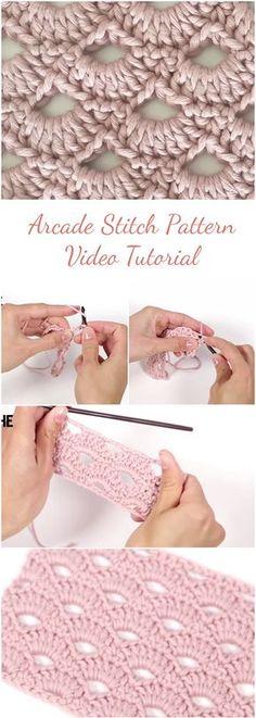 Arcade stitch patterns. Video tutorials.
