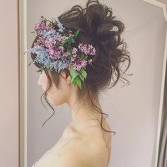 Photo (pretty little wedding things) Dress Hairstyles, Bride Hairstyles, Pretty Hairstyles, Bridal Flowers, Flowers In Hair, Flower Crown Bride, Hair Arrange, Bridal Photoshoot, Dream Hair