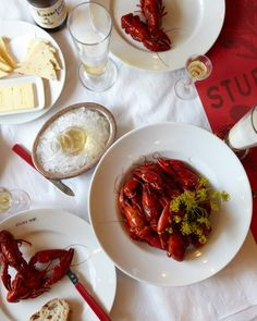 The long, dark Swedish winters lead to an abundance of joyful summer feasting, including offerings like this crayfish dish at Sturehof, in Stockholm.