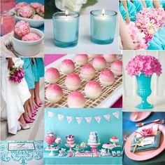 turquoise & pink