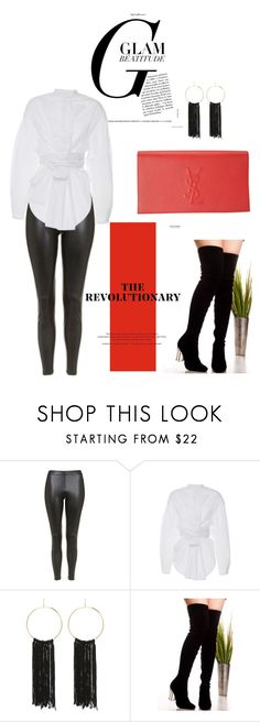 """Styling with Boots"" by dollie-stoudemire-mccall on Polyvore featuring Topshop, E L L E R Y, Bebe and Yves Saint Laurent"