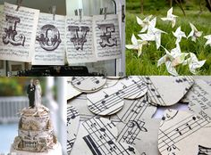 No Impact Bride: Ideas for Decorating Your Wedding with Sheet Music