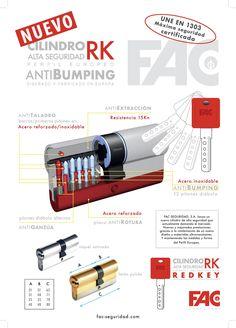 Nuevo Cilindro Anti-Bumping RK Puede sustituir el bombillo - cilindro de su puerta por uno de Alta Seguridad, fácilmente y ud. mismo