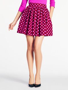 kate spade coreen skirt...LOVE! such a simple shape, would be fairly easy to make a DIY version, in any color/pattern!