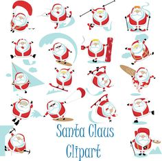 Santa Claus Digital Clipart Christmas The Holiday Clip Art Scrapbooking Invitations Christmas Printable Digital Graphics png 300 dpi Welcome to My shop! INCLUDES 18 digital pictures high resolution Each file is approximately 12 wide at full size 300 dpi. usually 12 x 12 (3600 x 3600 px) PNG files (transparent background) There will be no physical product with your purchase Watermark and drop shadows will not appear in your files Personal and Commercial Use Click Here for more Christmas…