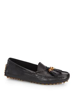 Gucci - Urban Leather Tassel Driving Loafers