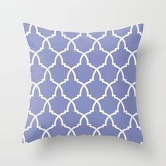 Giant Urn Periwinkle Lattice Throw Pillow
