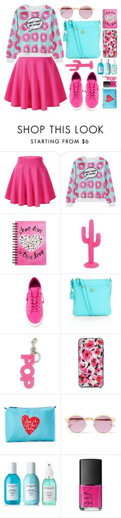"""cute pink vs blue"" by azizanisafitri ❤ liked on Polyvore featuring WithChic, Sunnylife, LEATHER CROWN, Talbots, STELLA McCARTNEY, Kate Spade, Stella & Max, Sheriff&Cherry, Sachajuan and NARS Cosmetics"