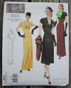 Vogue Vintage Reproduction 2610 1940s 40s by EleanorMeriwether