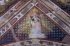 Agnolo Gaddi - Evangelisti della Chiesa, dett. San Giovanni - affresco - 1385 - volta Cappella Castellani - Basilica di Santa Croce a Firenze.
