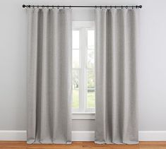 Shop Pottery Barn for expertly crafted linen curtains. Browse our Classic Belgian Flax Linen curtain collection and find linen drapes in an array of colors. Curtains For Grey Walls, Grey Blackout Curtains, Living Room Drapes, Grommet Curtains, Drapes Curtains, Closet Curtains, Living Rooms, Chambray, Homes
