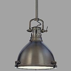 Nautical pendant light in polished nickel finish modern farmhouse industrial farmhouse and - Stainless steel kitchen pendant light ...